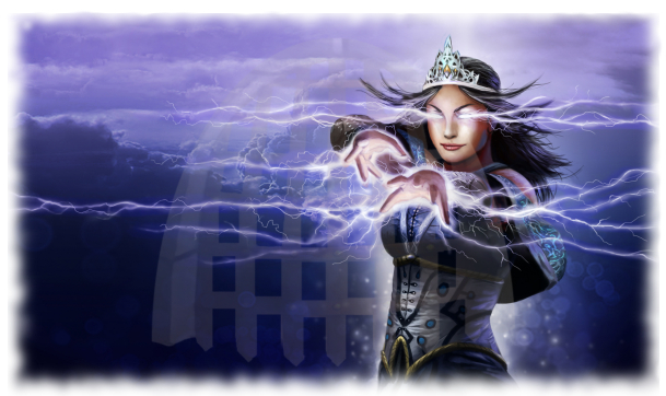Sorceress Wallpaper with Watermark