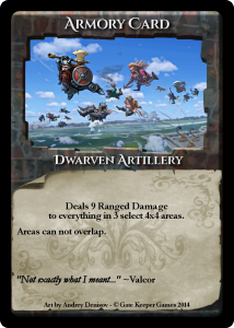 Armory Card Dwarven Artillery