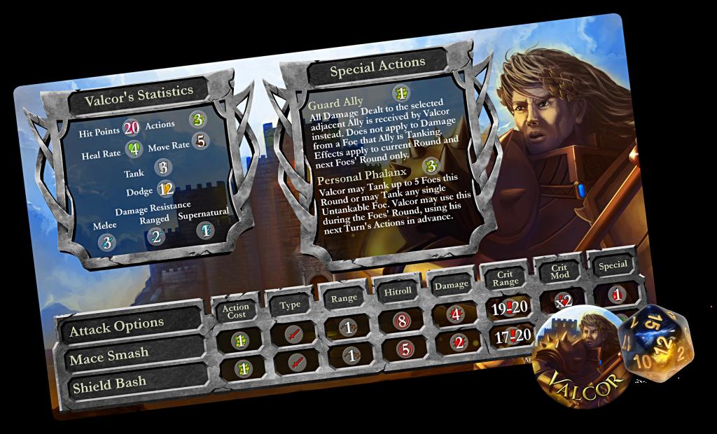 Hero Card Set Valcor