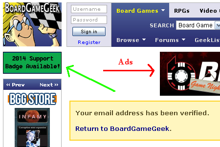 BGG 3 Account Verfied and Ads