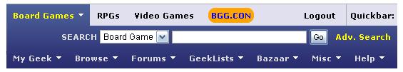 BGG Search Bar