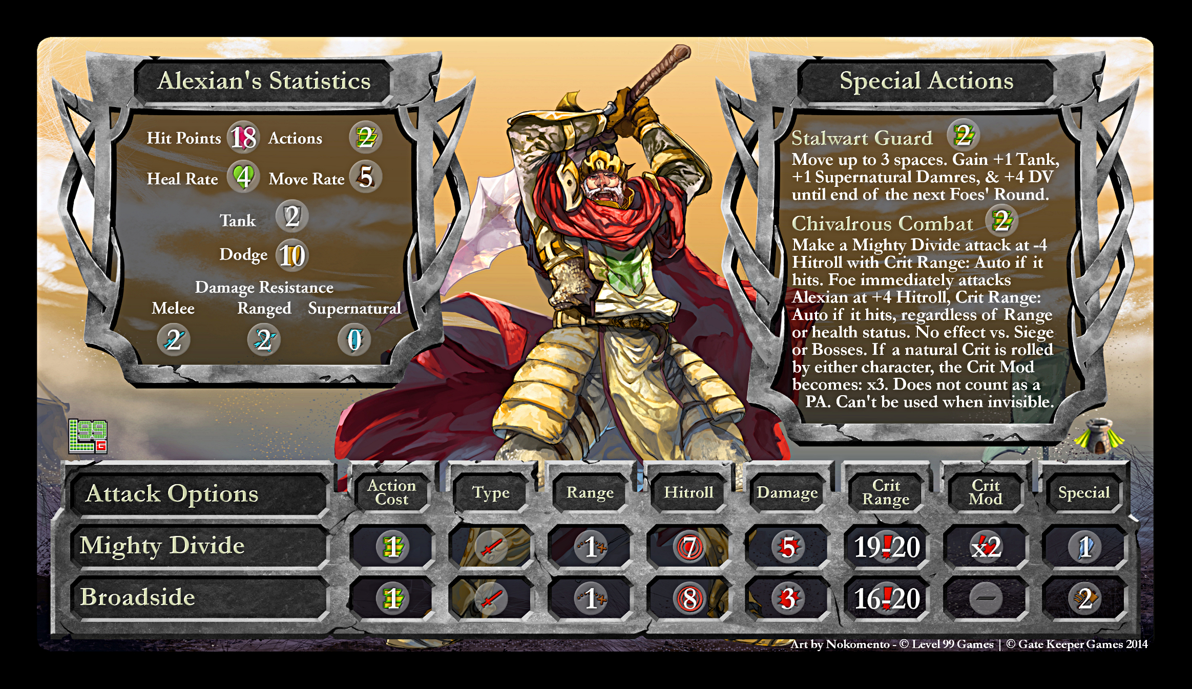 Hero Stat Card Alexian2