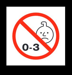 Not for children 0-3