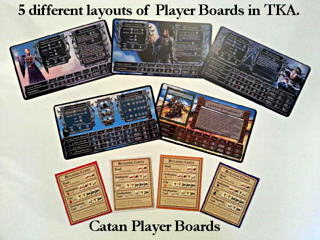 Player Board Layouts