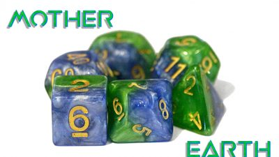 """Mother Earth"" Halfsies Dice"