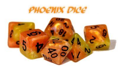 """Phoenix"" Halfsies Dice"