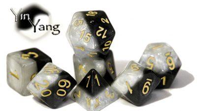"""""""Yin Yang"""" Halfsies Dice"""