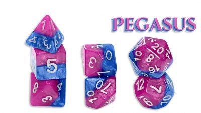 """""""Pegasus"""" Halfsies 7-Die Polyhedral Set"""