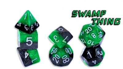 """Swamp Thing"" Halfsies Polyhedral Dice Set"