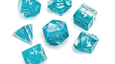 """Glacier"" (Light Blue) Neutron Dice"