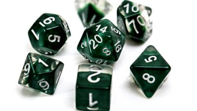 """Hunter Green"" Neutron Dice"