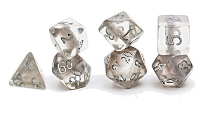 """Mercury"" (Silver) Neutron Dice"