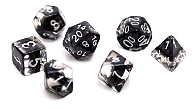 """Smoke"" (Black) Neutron Dice"