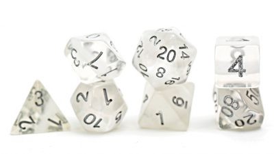 """Ice"" (White) Neutron Dice"