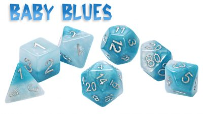 """Baby Blues"" Halfsies Dice"