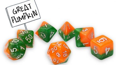 """Great Pumpkin"" Halloween Halfsies Dice"