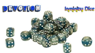 "Inminity Dice (12mm d6) ""DEVOTION"" Reality Shards Style"