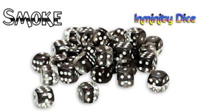 "Inminity Dice (12mm d6) ""Smoke"" (Black) Neutron Style"