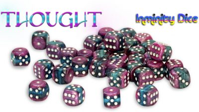 """Inminity Dice (12mm d6) """"THOUGHT"""" Reality Shards Style"""