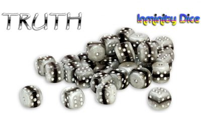 """Inminity Dice (12mm d6) """"TRUTH"""" Reality Shards Style"""