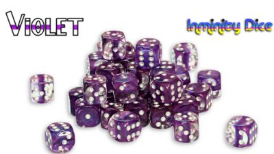 "Inminity Dice (12mm d6) ""Violet"" Neutron Style"
