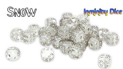"Inminity Dice (12mm d6) ""Snow"" (White) Neutron Style"