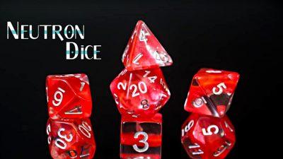 """""""Crimson"""" Red Neutron Dice"""