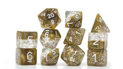 """Glitter Gold"" Halfsies Dice - Sparkle Edition!"