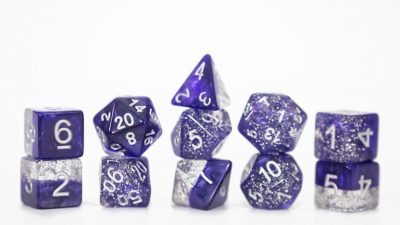 """Glitter Purple"" Halfsies Dice - Sparkle Edition!"