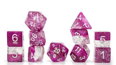 """Glitter Wine"" Halfsies Dice - Sparkle Edition!"